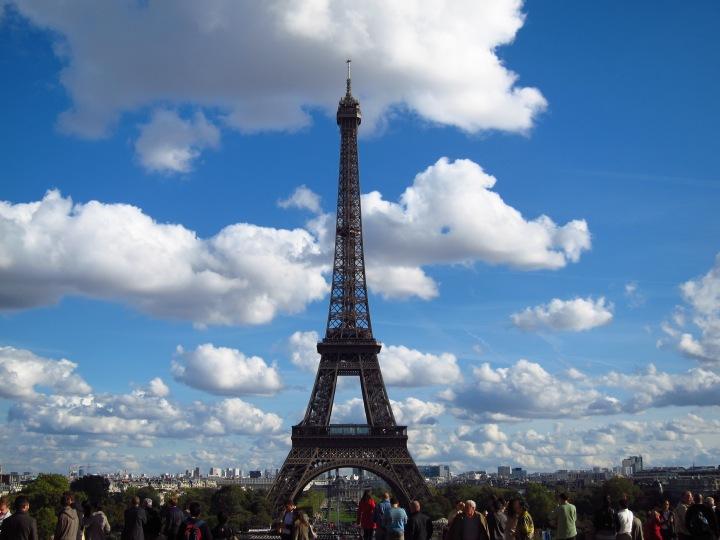 The majestic Eiffel Tower